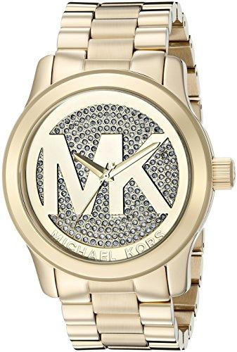 Michael Kors Damen-Armbanduhr XL Analog Quarz Edelstahl MK5706 thumbnail