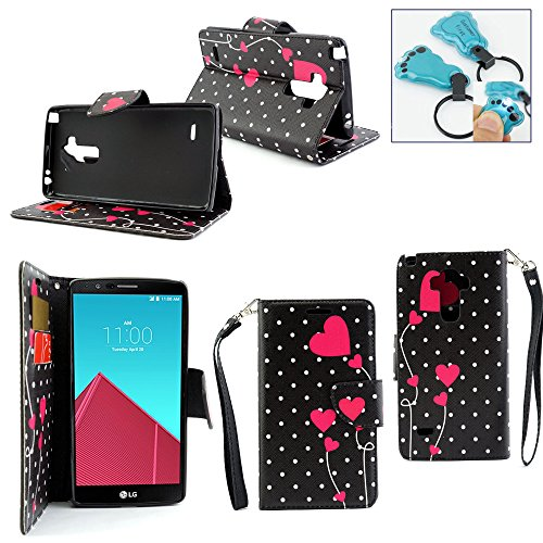 Click to buy Customerfirst - Flip Wallet Pouch, Slim Folio Case with Kickstand, 2 Credit Card Slot Wallet Pouch Leather Wallet Folio Case, Credit Card ID Slots, Currency Pocket, Hand Strap LG LS770 Stylus Case, LG LS770 Stylus 5.7