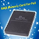 Banggood 1pcs 8MB Memory Card 8M 8 MB Memory Expansion Card For Playstation 2 PS2 Black 8MB Memory Card For PS2