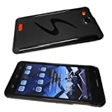 Alcatel One Touch Idol Ultra 6033 Silicone Bumper Protection Cover Black Pattern