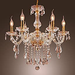 LightInTheBox MAX 60W Candle Style Crystal Chandelier Traditional/Classic Gold Feature Pendent Light Incandescent Bulb Ceiling Lighting Fixture