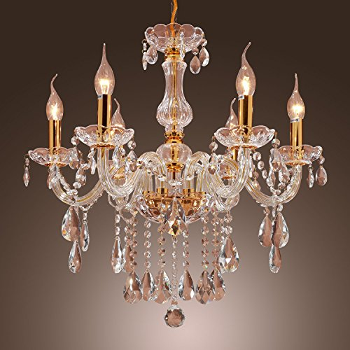 Lightinthebox Luxuriant Crystal Chandelier With 6 Lights Modern Home Ceiling Light Fixture Flush Mount, Pendant Light Chandeliers Lighting, Voltage=110-120V