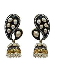 Akshim Black Alloy Earrings For Women - B00NPY8YBK