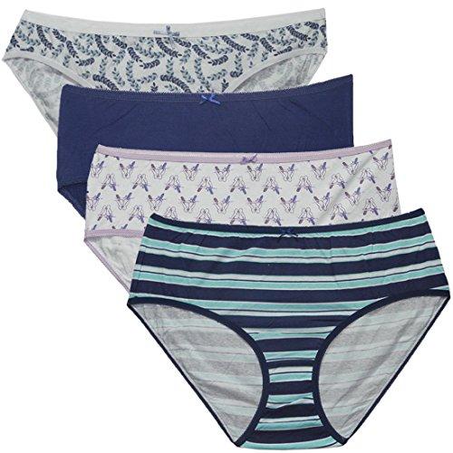 Pack-of-4-Womens-Designer-Brand-Soft-Briefs-Underwear-Panties