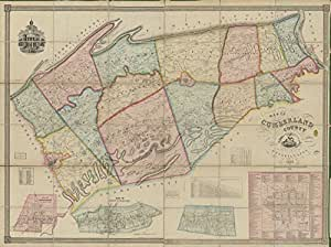 Amazon.com: Vintage 1858 Map of Map of Cumberland County