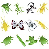 Plastic Bugs And Flies Toy Set - Pack Of 12 - 1c195 - Educational & Decorative Toys For Kids