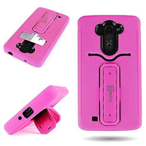 LG G Vista Case, CoverON® (Hot Pink) Kickstand Hybrid, [Impact Shield] [Tough Full Body] [Shockproof] Drop Protection Armor Phone Cover for LG G Vista VS880