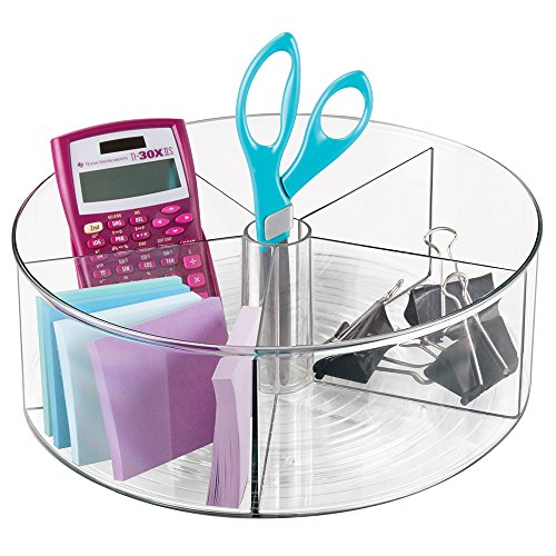 mdesign-lazy-susan-turntable-office-supplies-desk-organizer-bin-with-dividers-for-scissors-pens-stic