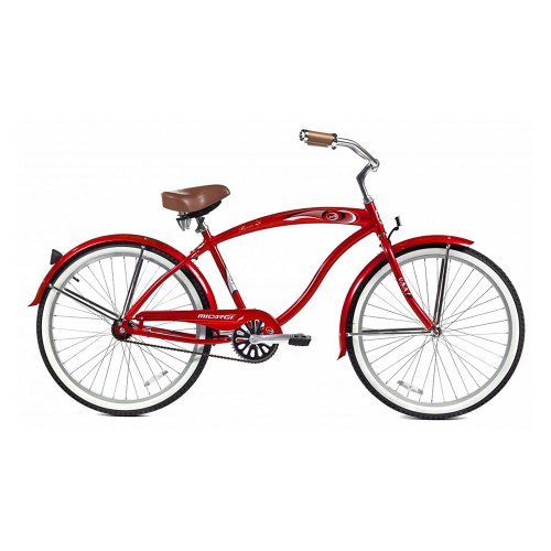 Micargi Rover LX Beach Cruiser Bike, Red, 26-Inch