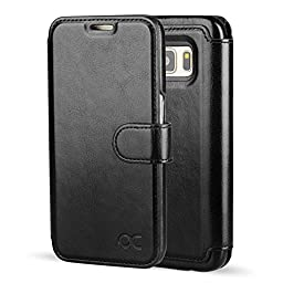 OCASE Galaxy S7 Case [Slim Fit] Leather Wallet Case - For SAMSUNG Galaxy S7 Devices - Black
