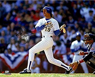 Robin Yount Milwaukee Brewers Autographed 16'' x 20'' Horizontal Swing Photograph With HOF 99 inscription - Fanatics Authentic Certified