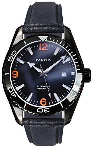 PARNIS Automatikuhr Modell 3211, Herrenuhr, Ø 45mm, Edelstahl, Keramik, Saphirglas, 5BAR, Automatik-Uhrwerk von MIYOTA