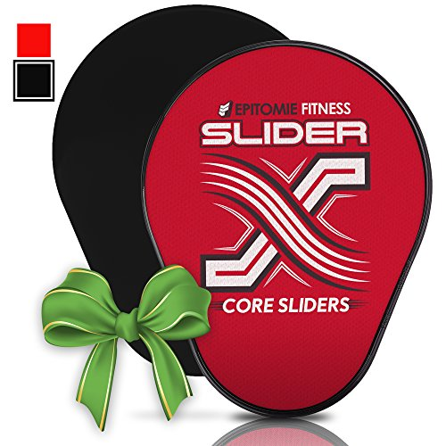 Slider X Gliding Discs - Power Sliding Disc Set For Core Workouts And Slide & Glide Exercises On Hardwood Floors & Carpet (Perfectly Shaped For Hands & Feet) - Black (Slide Exercise compare prices)
