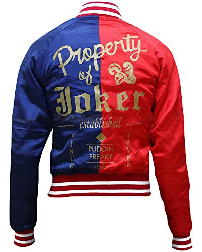 Harley Quinn Suicide Squad Satin Fabric Jacket
