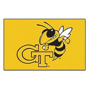FANMATS NCAA Georgia Tech Yellow Jackets Nylon Face Ultimat Rug by Fanmats