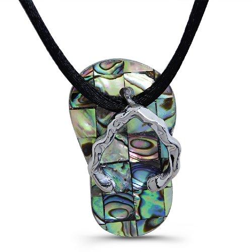 Abalone Shell Pearl - Slipper Inspired Pendant