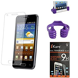 iKare Pack of 12 Tempered Glass for Micromax Canvas Doodle 3 A102 + Mobile Holder Hand Stand