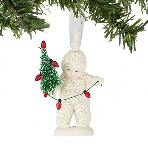 Snowbabies Lighting The Tree Baby Decorating Christmas Ornament