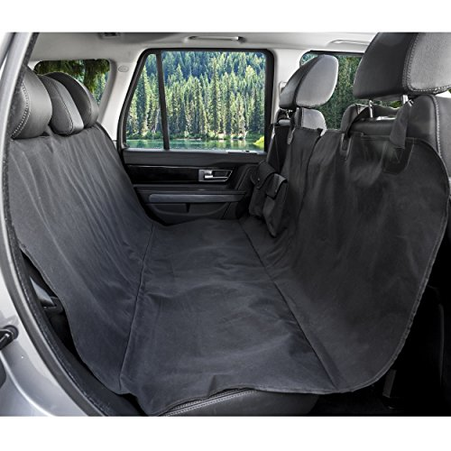 deluxe quilted padded dog car back seat cover for dogs waterproof black hammock ebay. Black Bedroom Furniture Sets. Home Design Ideas