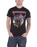 Iron Maiden Euro Tour 2013 Trooper Official Mens New Black T Shirt