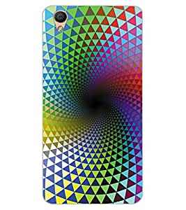 ColourCraft Colourful Pattern Design Back Case Cover for OPPO R9
