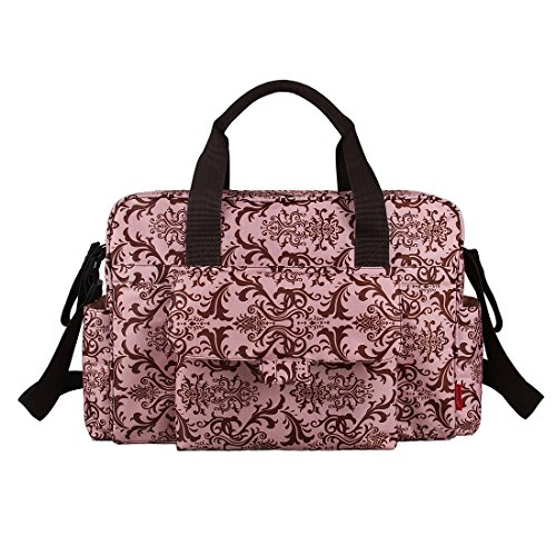 Ecosusi Diaper Tote Bags, Colorful Childhood (Pink Pattern)