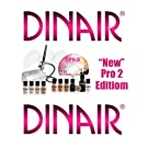 Airbrush Makeup Kit Dinair PRO EDITION, 8 Makeup Colors/Shades Salon Quality Compressor color varies.