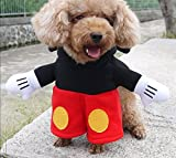 WP Pet Dog Cat Transfiguration Mickey Mouse Costume Party Clothes Clothing Cosplay Outfit Appareal 4 (XS)