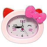Sweet Home Kids/Children Small Cartoon Table/Bedside Alarm Clock (pink Bow Bear)