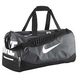 New Nike Team Training Max Air Medium Duffel Bag Flint Grey/Black/White