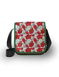 Atrangee Red Summer Flower City Sling Bag