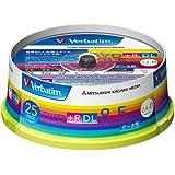 三菱化学メディア Verbatim DVD+R DL 8.5GB 1回記録用 2.4-8倍速 スピンドルケース 25枚パック ワイド印刷対応 ホワイトレーベル DTR85HP25V1