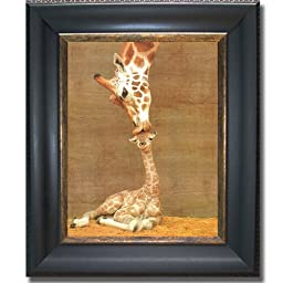 First Kiss (Makula) by Ron D\'Raine Premium Black & Gold Framed Canvas (Ready-to-Hang)