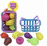 Fruit & Veg Basket Happy Home Toys Kids Children Pretend Play Plastic Shopping Grocery Food