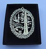 California Redwood Trees Ornament Black Leatherette Gift Box