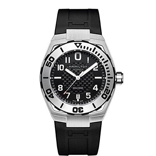 Hamilton  - Reloj Analógico de Automático para Hombre, correa de Goma color Negro