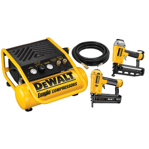 DEWALT D55141FNBN 16-Gauge Finish Nailer/18-Gauge Brad Nailer/Compressor Combo Kit