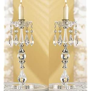 Centerpiece chandelier table top candelabra candle holders crystal beaded centerpiece chandelier taper aloadofball Images