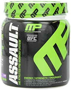 Muscle Pharm Assault Pre-Workout System, Grape Blast, 0.96 Pound (Pack of 3)