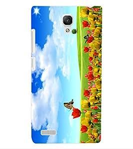 ColourCraft Beautiful Flowers Design Back Case Cover for XIAOMI REDMI NOTE