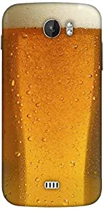Snoogg Beer Glass Up Designer Protective Back Case Cover For Micromax A110