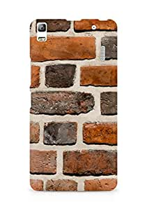 Amez designer printed 3d premium high quality back case cover for Lenovo A7000 (Brick wall)