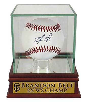 "SF Giants Brandon Belt Autographed Official MLB Baseball w/ ""2X WS CHAMP"" Case (COA)"