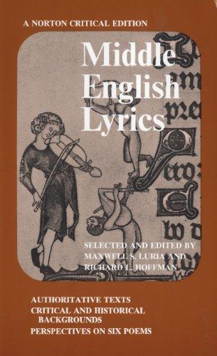 Middle English Lyrics (Norton Critical Editions)