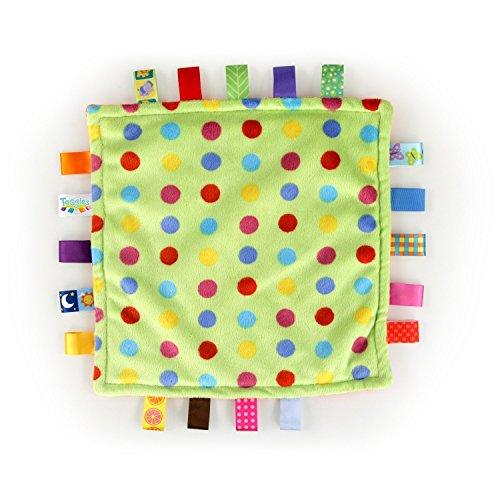 Taggies Little Plush Blanket, Green/Orange