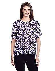 Chemistry Women's Body Blouse Shirt (C16-626WTTOP_Turkish K'Scope_X-Small)