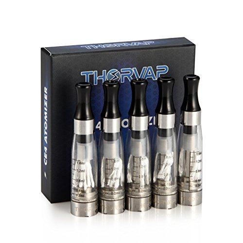 THORVAP-E-Zigarette-Starterset-e-Shisha-Doppelset-inkl-2x-EVOD-Akku-36Volt-48-Volt-und-2x-Ego-CE4-Verdampfer-16mlEzigarette-Set-Komplette-Cigarette-Vape-Pen-dampfer-ohne-Nikotin-SchwarzChrome