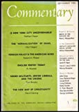 img - for Commentary: Vol. 32, No. 3 (September 1961) book / textbook / text book