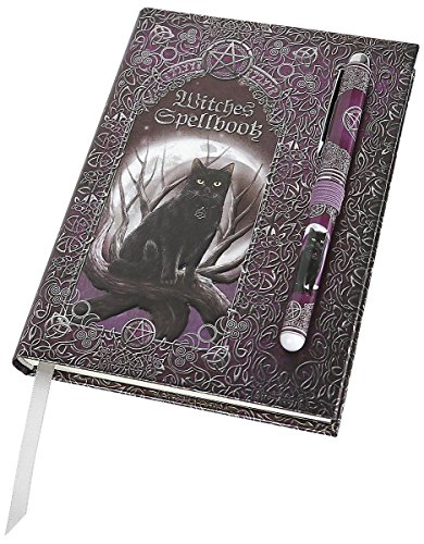 Luna Lakota Spells Black Cat 6.75 Hard Cover Embossed Journal Book with Pen by ATL