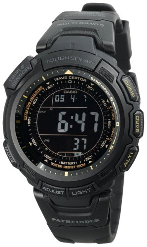 Casio Men's Reverse PAW1300Y-1VCR LCD Atomic Pathfinder Watch